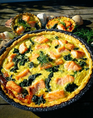 Rezept Quiche mit Lachs und Spinat