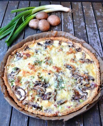 Rezept Quiche mit Pilzen - Champignon Tarte