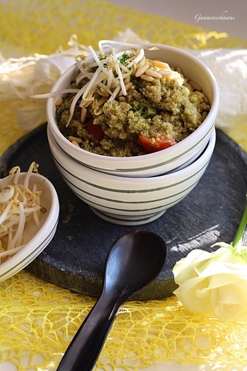 Rezept Quinoa mit Basilikumpesto