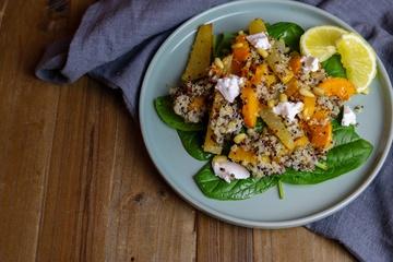 Rezept Quinoa mit Butternut & schwarzem Rettich
