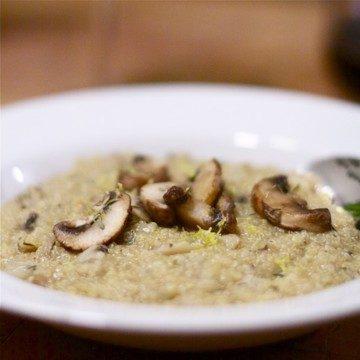 Rezept Quinoa mit Pilzen