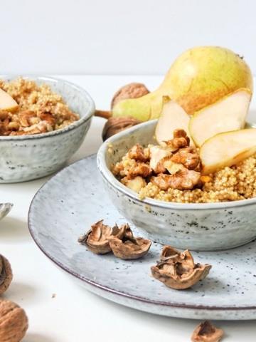 Rezept Quinoa mit Walnüssen und Zimtbirnen