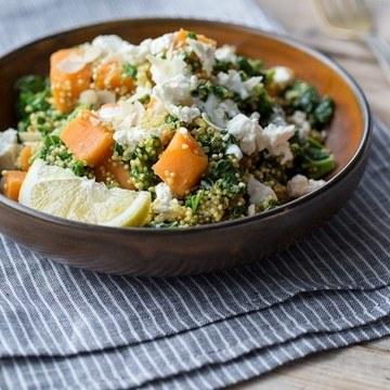 Rezept Quinoa-Pilaf mit Grünkohl und Süßkartoffeln