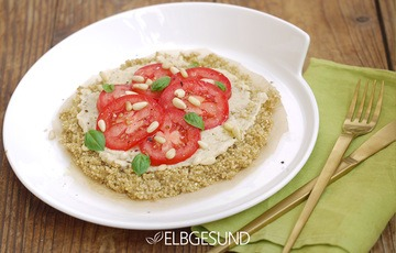 Rezept Quinoa-Pizza – Fast Food in gesund!