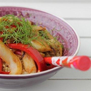 Rezept Quinoa-Salat mit Fenchel und Paprika