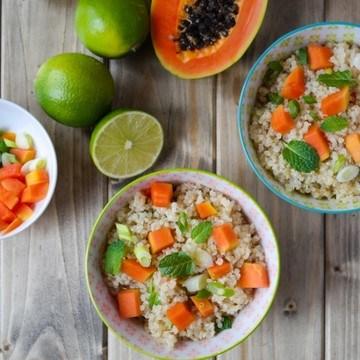 Rezept Quinoa-Salat mit Papaya