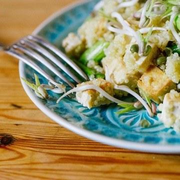 Rezept Quinoa Spargelpfanne