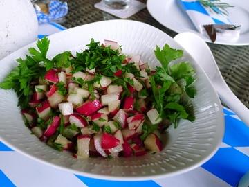 Rezept Radieschensalat mit Petersilie