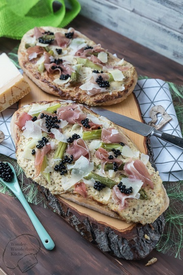 Rezept Rahmfleckerl mit Grana Padano, Prosciutto di San Daniele und Balsamico-Kaviar