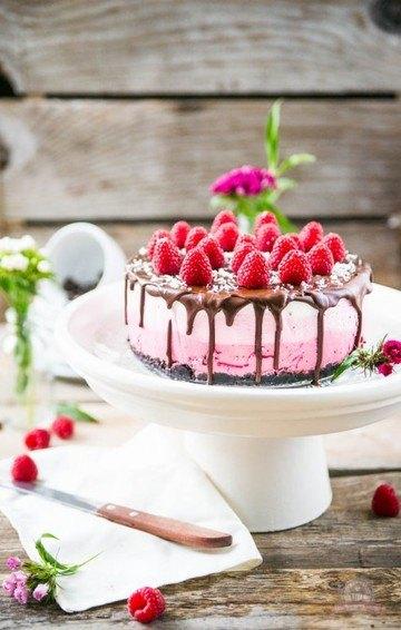 Rezept Raspberry Ombre Cake