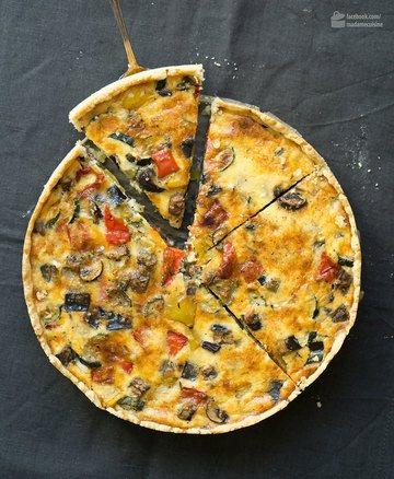 Rezept Ratatouile-Quiche (Gemüsekuchen)