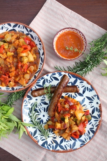 Rezept Ratatouille mit Merguez