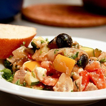 Rezept Ratatouille mit Schafskäse und Oliven
