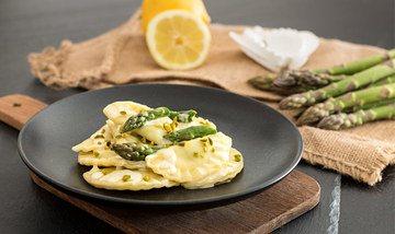 Rezept Ravioli mit Spargel-Ricotta-Füllung
