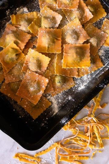 Rezept Ravioli mit Spinatfüllung