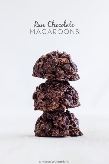 Rezept Raw Chocolate Macaroons