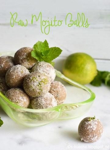 Rezept Raw Mojito Balls - Energiekugeln mit Minze und Limette