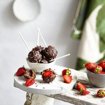 Rezept Raw Triple Chocolate Strawberry Pops