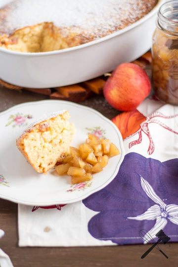 Rezept Reisauflauf mit Apfelkompott