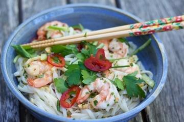 Rezept Reisnudel Salat mit Shrimp