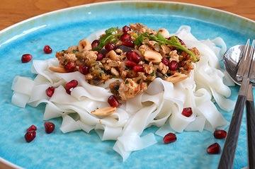 Rezept Reisnudeln mit Hähnchenhackfleisch