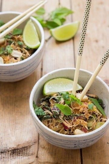 Rezept Reisnudeln mit Mangold-Soße