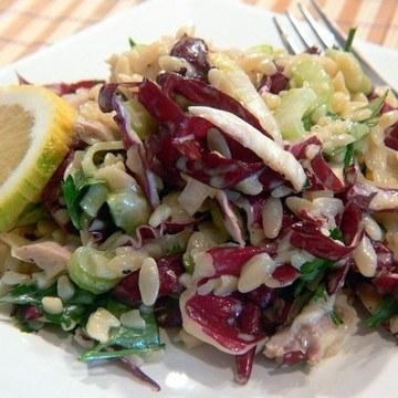 Rezept Reisnudelsalat mit Radicchio und Huhn