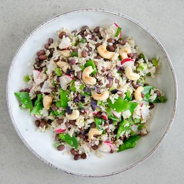 Rezept Reissalat mit Azukibohnen