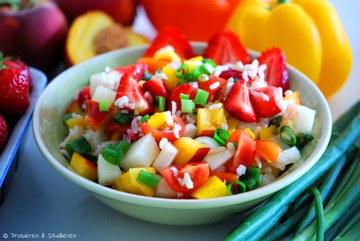 Rezept Reissalat mit Beeren & Paprika