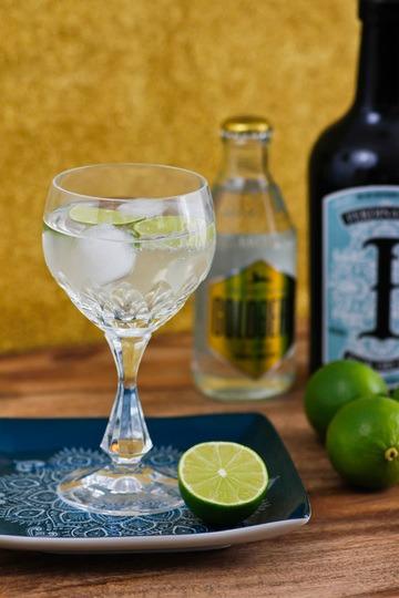 Rezept Rezept Klassicher Gin Tonic mit Limette / Zitrone oder Gurke