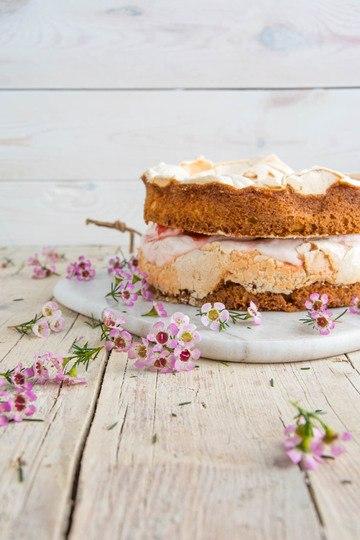 Rezept Rhababer Baiser Torte