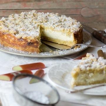 Rezept Rhabarber-Cheesecake mit Streuseln