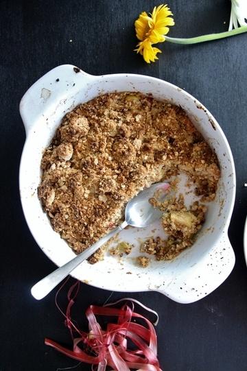 Rezept Rhabarber Crumble, glutenfrei