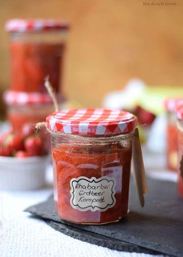 Rezept Rhabarber-Erdbeer Kompott