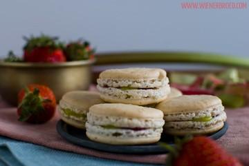 Rezept Rhabarber-Erdbeer-Vanille-Macarons