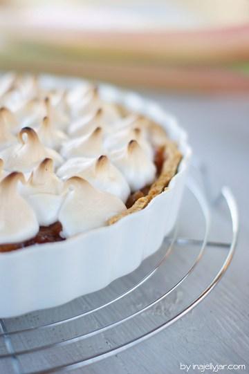 Rezept Rhabarber-Pie mit Baiserhaube