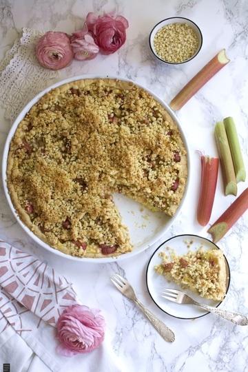 Rezept Rhabarber-Pudding-Kuchen