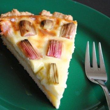 Rezept Rhabarber-Pudding-Tarte