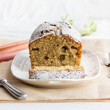 Rezept Rhabarber-Rührkuchen mit Kokosflocken