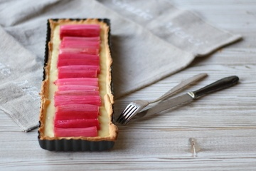 Rezept Rhabarber-Schokolade-Tarte