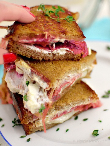 Rezept Rhabarber Ziegenkäse Grilled Cheese Sandwich