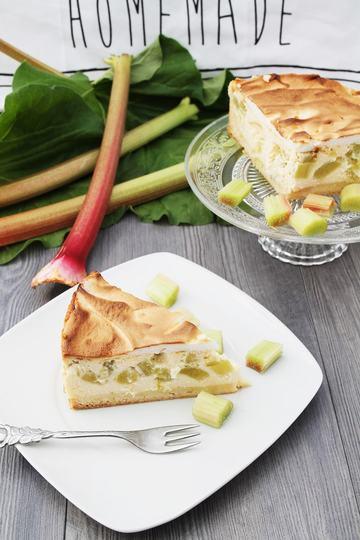 Rezept Rhabarberkuchen mit Baiserhaube