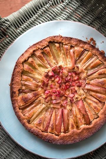 Rezept Rhabarberkuchen mit Mandelcreme