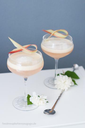 Rezept Rhubarb Sour mit Rhabarber und Gin