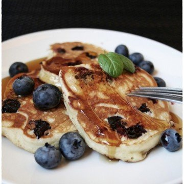 Rezept Ricotta-Blueberry Pancakes