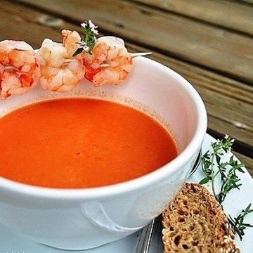 Rezept Riesengarnelen-Creme-Suppe
