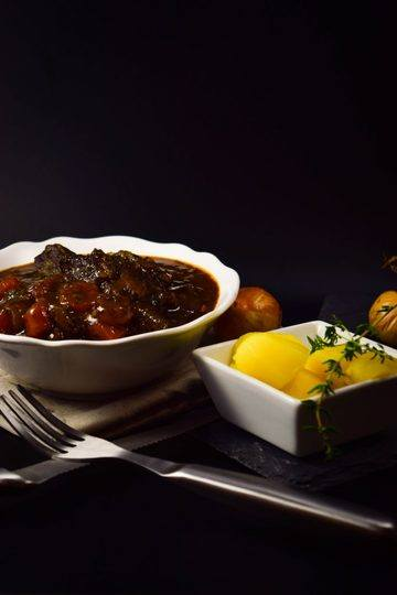 Rezept Rinderschmortopf im Boeuf Bourguignon Style ohne Pilze