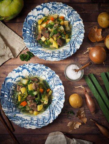Rezept Rindfleisch-Bohnen-Eintopf mit Kartoffeln