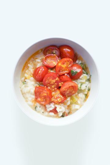 Rezept Risotto mit geschmorten Tomaten und Basilikum