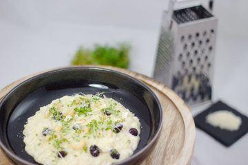 Rezept Risotto mit Ziegenfrischkäse, Cranberries & Cashew Kernen